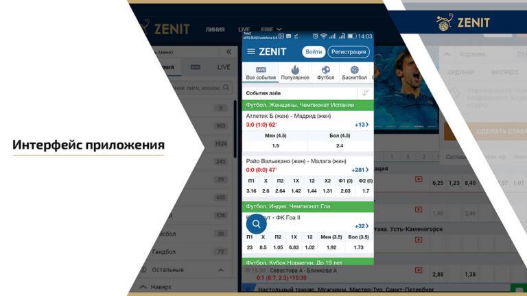 Интерфейс приложения для Android и Windows