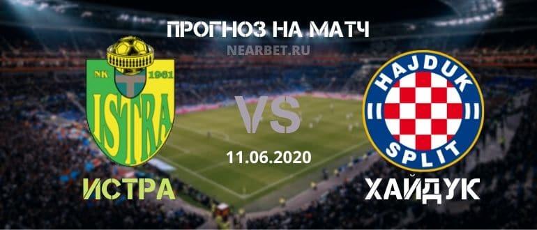 Истра — Хайдук Сплит: прогноз и ставка на матч