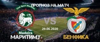 Маритиму — Бенфика: прогноз и ставка на матч