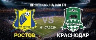 Ростов — Краснодар: прогноз и ставка на матч