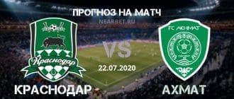 Краснодар — Ахмат: прогноз и ставка на матч