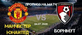 Манчестер Юнайтед — Борнмут: прогноз и ставка на матч