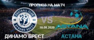 Динамо Брест – Астана: прогноз и ставка на матч