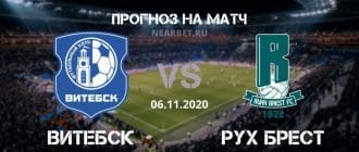 Витебск – Рух Брест: прогноз и ставка на матч