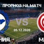 Арминия – Майнц: прогноз и ставка на матч